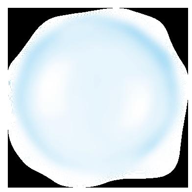 biało-niebieski duży bąbelek