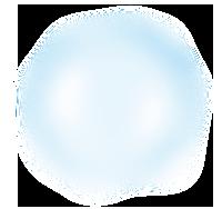 średni biało-niebieski duży bąbelek
