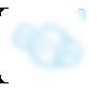 trzy małe biało-niebieskie bąbelki