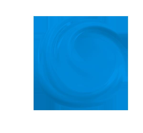 niebieska kula z wirem