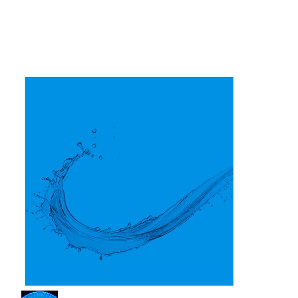 niebieskie koło z rozbryzgiem wody