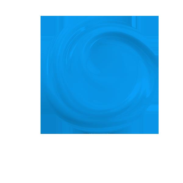 niebieskie koło z wirem