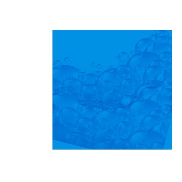 niebieskie koło z małymi bąbelkami
